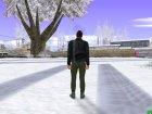Skin GTA Online в кожанке для GTA San Andreas вид изнутри