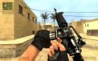 Joshbjoshingu's Black M4a1 for Counter-Strike Source rear-left view