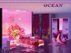 Ocean Kids Bedroom for Sims 4 top view