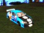 Mitsubishi Lancer Evo IX Anime for GTA San Andreas top view