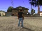CJ в футболке (Crow) для GTA San Andreas вид изнутри