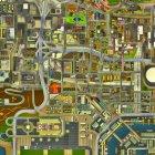 HD Radar Map 3D for GTA San Andreas rear-left view