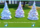 4 Recoloured Holiday Christmas Tree Set