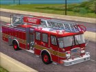 E-One Quint Rearmount SACFD Ladder 49 для GTA San Andreas вид сбоку