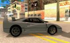 Ferrari F40 Black Revel для GTA San Andreas вид изнутри