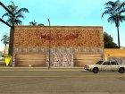 Новые текстуры спортзала на Грув стрит для GTA San Andreas вид слева