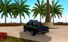 ВАЗ-2107 Державтоінспекція для GTA San Andreas вид сзади слева
