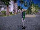 Девушка блондинка в куртке для GTA San Andreas вид сверху
