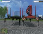 Absetzrahmen Forest v1.3 for Farming Simulator 2015 rear-left view