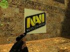 "Логотип ""NAVI"" for Counter-Strike 1.6 left view"