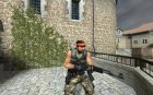 Camo AK-47 with Black Wood for Counter-Strike Source top view