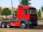Mercedes-Benz Actros MP4 Stream Space black  6x4 V2.0 для GTA San Andreas вид слева