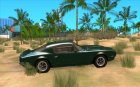 Pontiac Firebird 1970 для GTA San Andreas вид изнутри
