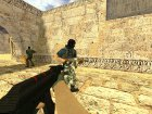 AK-47  RedLine for Counter-Strike 1.6 rear-left view