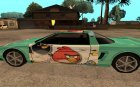 Angry Birds Infernus для GTA San Andreas вид сзади