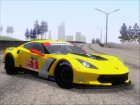 Chevrolet Corvette C7R GTE 2014 (Paintjobs Part 1) для GTA San Andreas вид слева