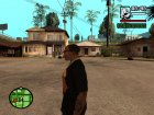 "Футболка с знаком зодиака ""Дева"" для GTA San Andreas вид слева"