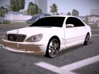 Mercedes-benz S600 AMG for GTA San Andreas top view