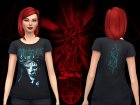 SlipKnoT TShirts for Sims 4 right view