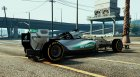 Mercedes W06 F1 HQ for GTA 5 rear-left view