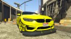 BMW M4 2015 for GTA 5 left view