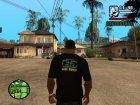 Футболка с логотипом Stalker v2 для GTA San Andreas вид слева