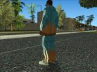 Adidas Suit Pants Orange blue для GTA San Andreas вид слева