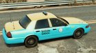 Undercover Ford CVPI  LA Taxi  for GTA 5 top view