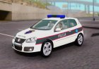 Golf V - BIH Police Car для GTA San Andreas вид изнутри
