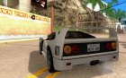 Ferrari F40 Black Revel для GTA San Andreas вид сзади слева