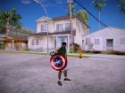 Shield Captain America для GTA San Andreas вид сзади слева