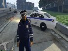 Russian Traffic Officer Dark Blue Jacket for GTA 5 side view