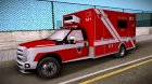 Ford F-350 Super Duty TFD Medic 1 для GTA San Andreas вид сзади слева