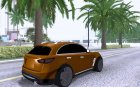 Infiniti FX37 v1 for GTA San Andreas rear-left view