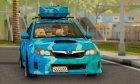 Subaru Impreza Blue Star for GTA San Andreas left view