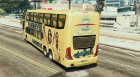 Al-Nassr F.C Bus for GTA 5 rear-left view