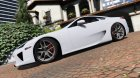 2010 Lexus LFA for GTA 5 left view