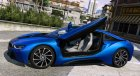2015 BMW I8 for GTA 5 rear-left view