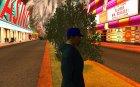 Кепка newyorkyankiys фиолетовая for GTA San Andreas left view