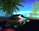 BMW X6M 2015 для GTA San Andreas вид сзади