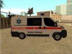 Fiat Ducato Ambulance для GTA San Andreas вид сзади слева