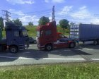 Russian Traffic Pack v1.1 for Euro Truck Simulator 2 rear-left view