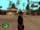 "Футболка с знаком зодиака ""Дева"" для GTA San Andreas вид сзади слева"