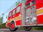 E-One Quint Rearmount SACFD Ladder 49 для GTA San Andreas вид сзади