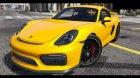 2016 Porsche Cayman GT4 v1.0 for GTA 5 rear-left view