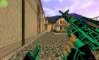 M4A1 Neon Electro for Counter-Strike 1.6 rear-left view