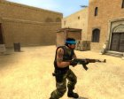 Guerilla Re-Skin (Blue Headband) для Counter-Strike Source вид слева
