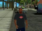 HD CJ Dark T-Shirt 2016 для GTA San Andreas вид справа