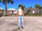 Skin HD GTA V Online 2015 в цилиндре for GTA San Andreas rear-left view