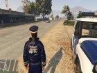 Russian Traffic Officer Dark Blue Jacket for GTA 5 rear-left view